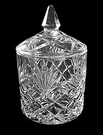 Crystal candy dish A001