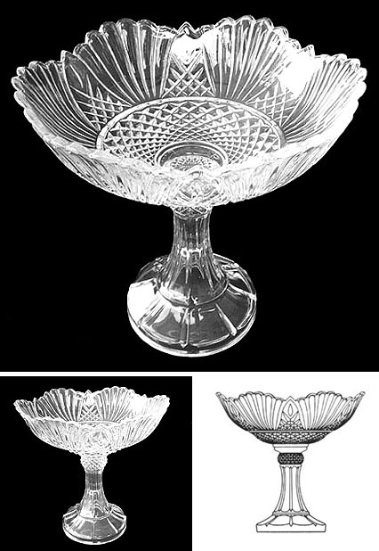 Footed crystal bowl from poland
