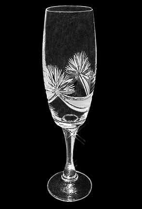Crystal champagne glasses S048